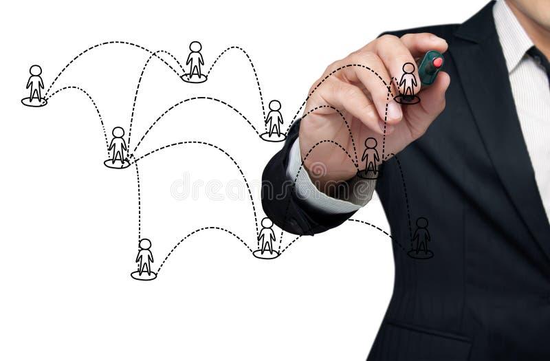 Download Drawing social network. stock image. Image of diagram - 21450545