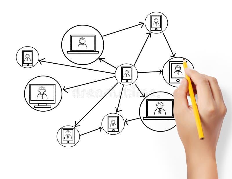 Download Drawing social network stock illustration. Illustration of information - 31995865