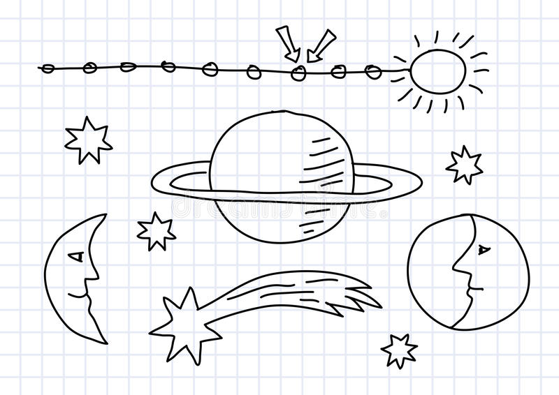 Download Drawing of space stock vector. Image of starry, drawing - 25789593