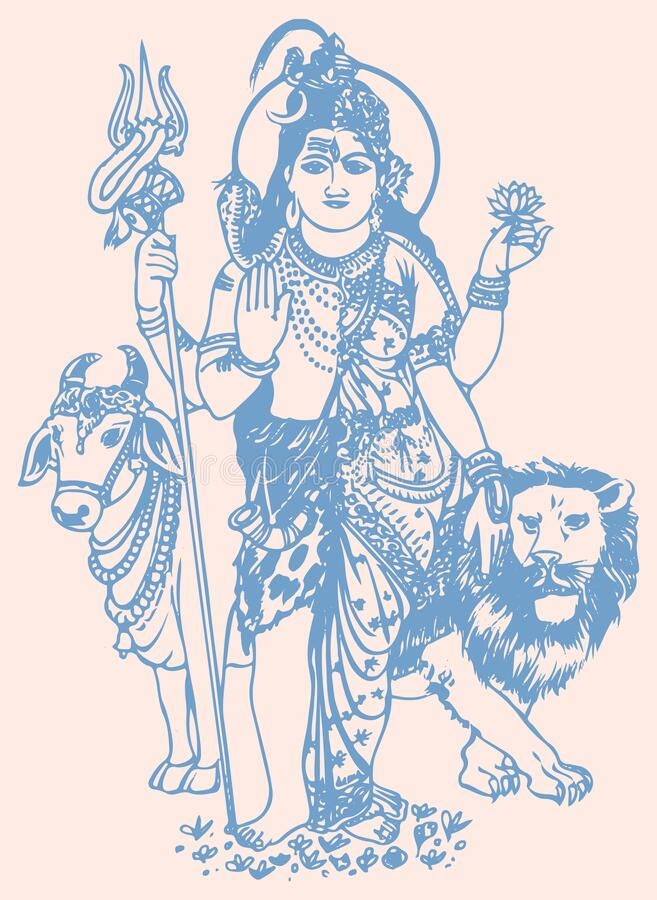 Shiva Parvati Stock Illustrations 305 Shiva Parvati Stock