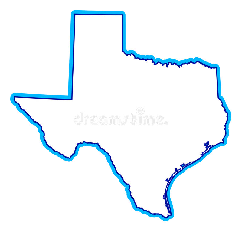 Drawing of state of Texas royalty free illustration