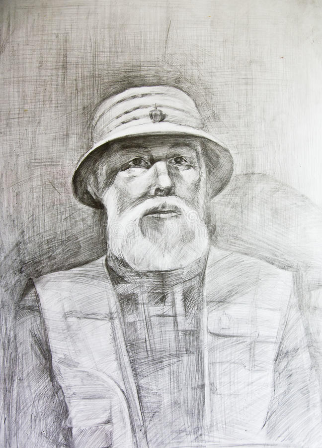 Download .Drawing Studio Works. Portrait Stock Illustration - Image: 15750667