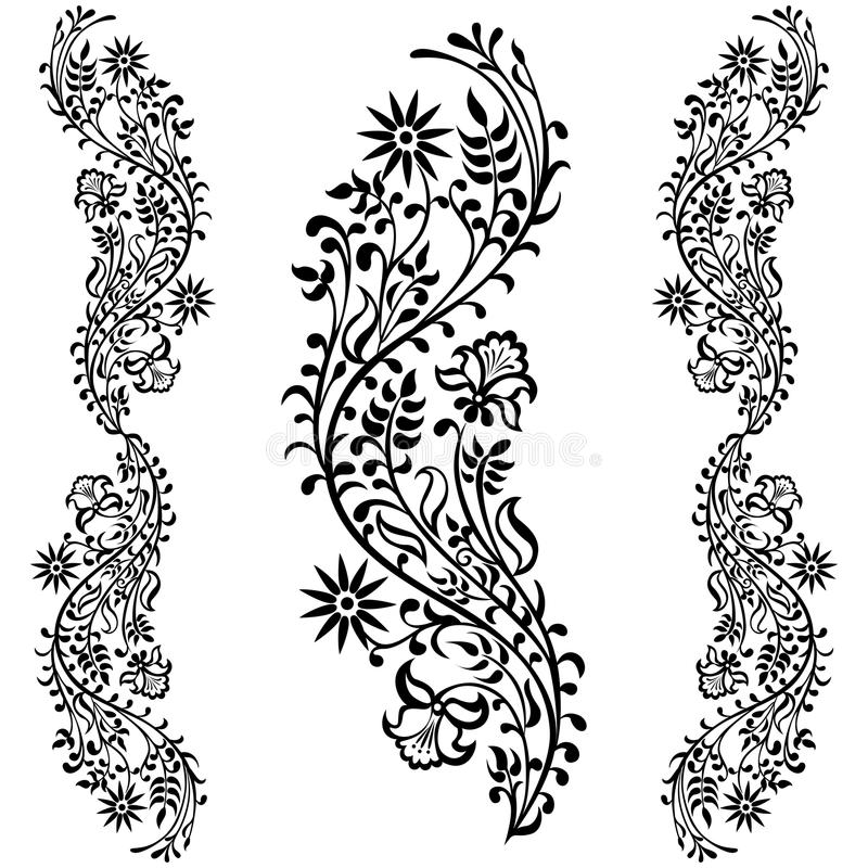 Download Drawing Swirling Decorative Flower Stock Vector