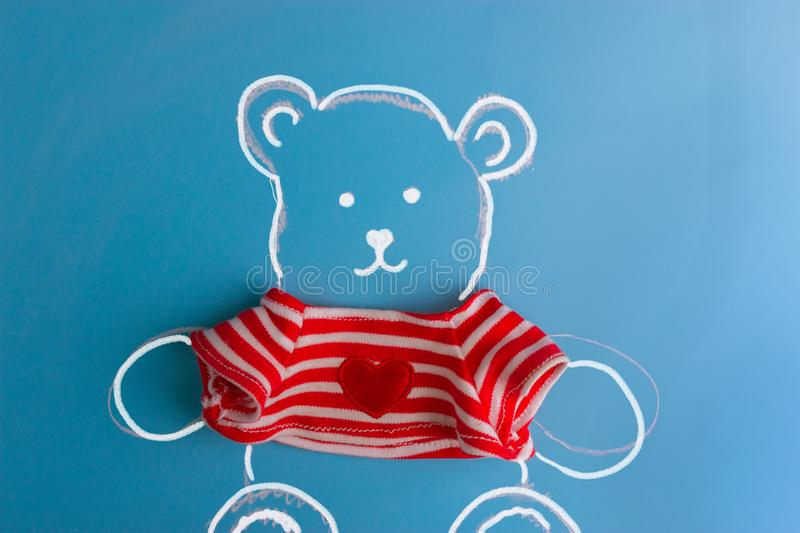 Drawing of teddy bear stock images