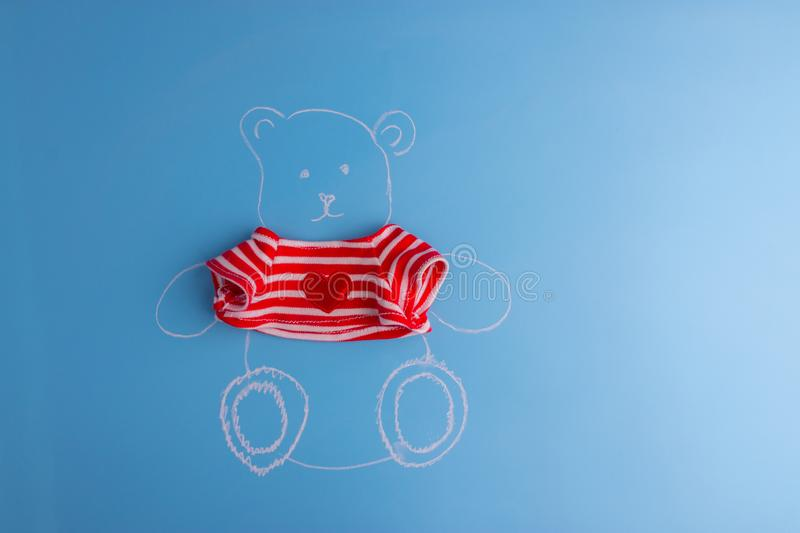 Drawing of teddy bear stock photography