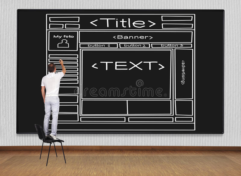 Download Drawing  template  webpage stock image. Image of design - 34083899