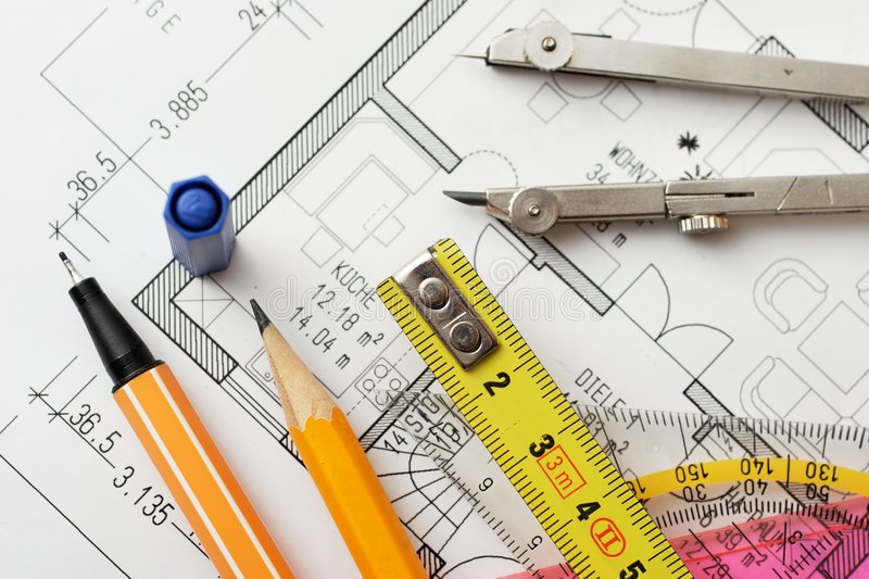 Download Drawing tools stock image. Image of conception, architecture - 807687