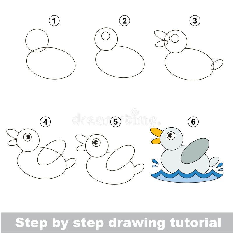 Drawing tutorial. royalty free illustration