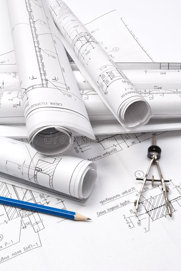 Download Drawing and various tools stock image. Image of drafting - 9814483