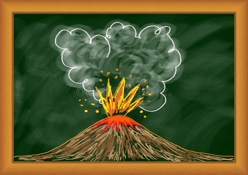 Download Drawing of volcano stock illustration. Illustration of creative - 25217911
