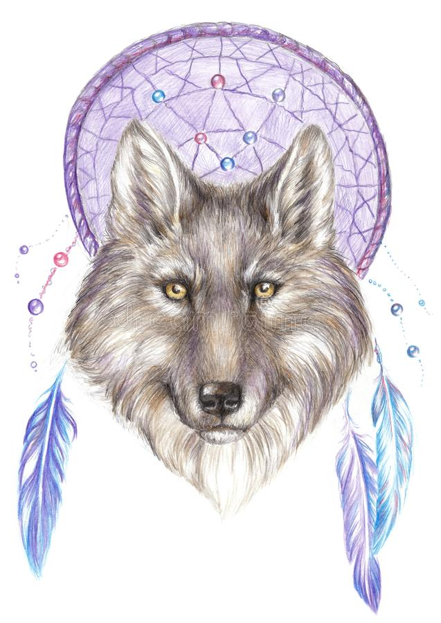 wolf dreamcatcher drawing related - photo #42