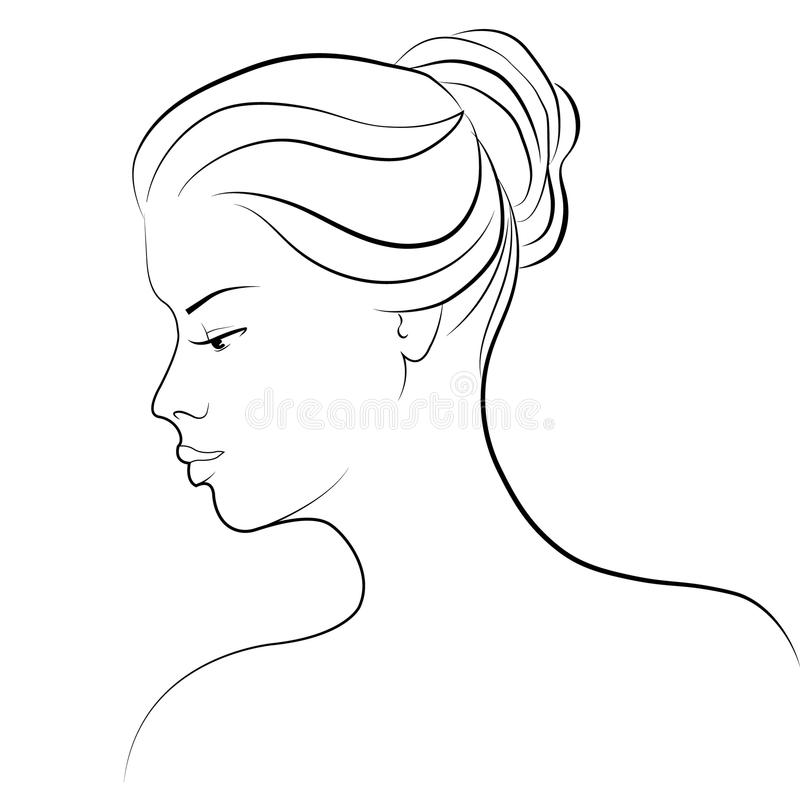 Drawing of a woman stock illustration