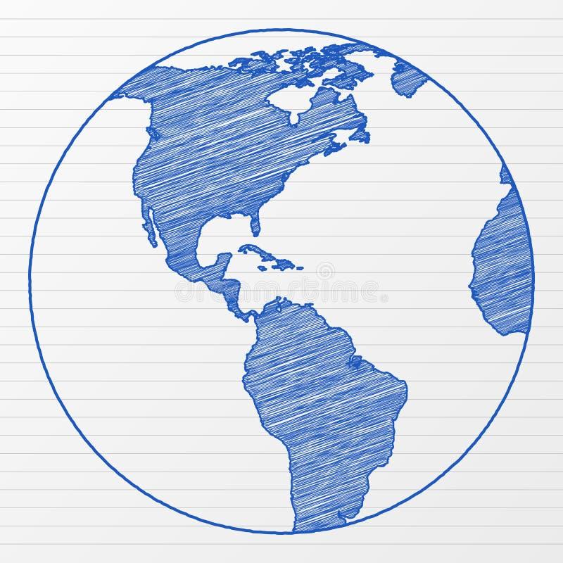 Free Drawing World Globe 6 Stock Images - 19721814