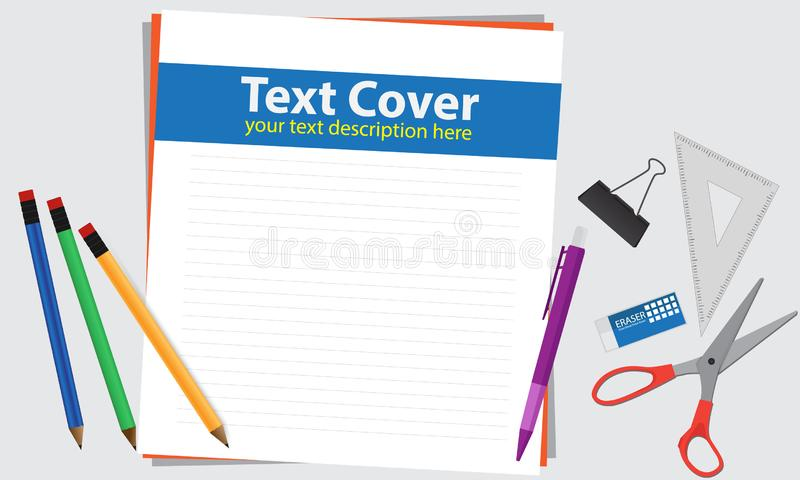 Drawing and writing set vector stock images