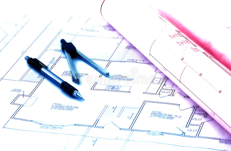 Download Drawings stock image. Image of design, plans, business, blue - 64347