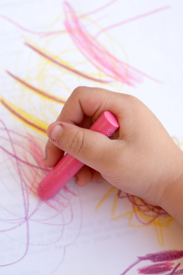 Drawings as a child royalty free stock photos