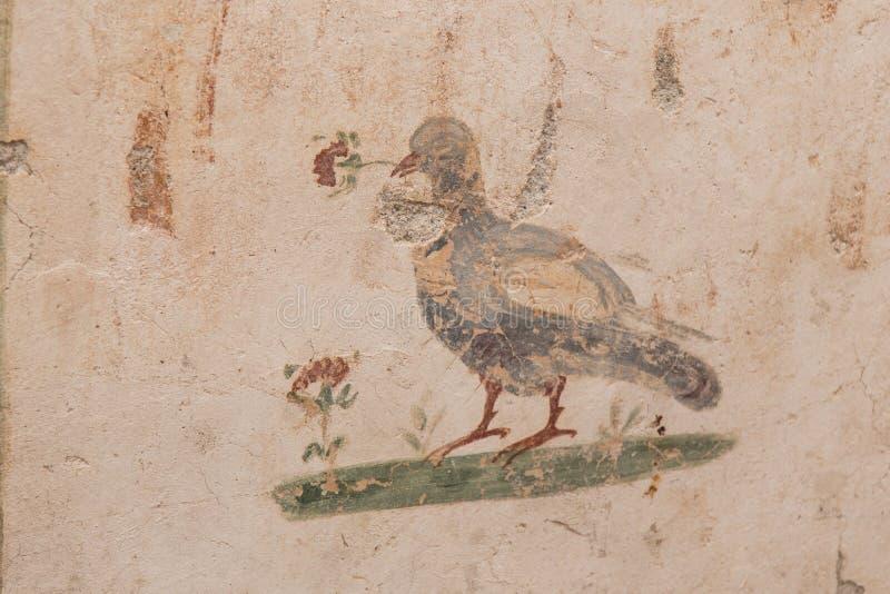 Drawings in Terrace Houses, Ephesus Ancient City. In Izmir, Turkey royalty free stock photos