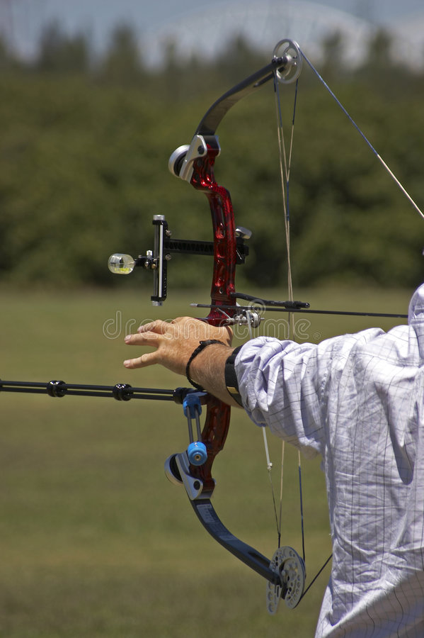 Download Drawn Bow stock photo. Image of string, hand, archer, wheel - 607044