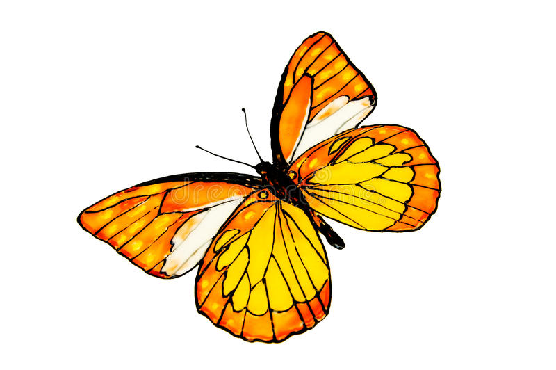 Download The drawn butterfly. stock illustration. Illustration of black - 10389749