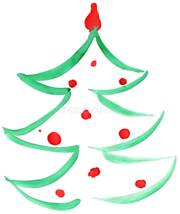 Drawn Christmas tree royalty free illustration