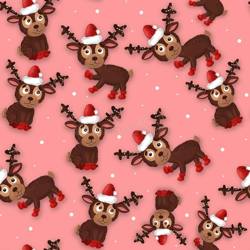Pattern with New Year`s Christmas texture. Raster. stock photography