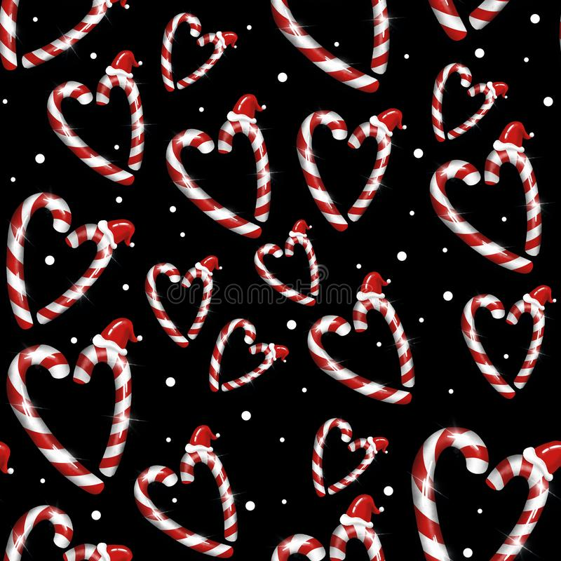 Pattern with New Year`s Christmas texture. Raster. stock image