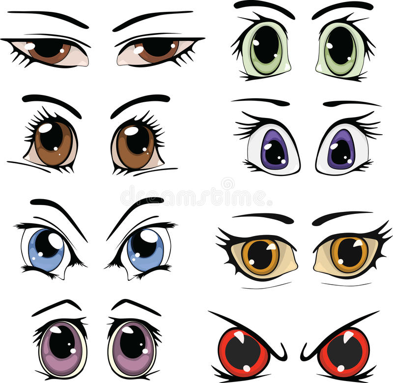 Download Drawn eyes stock vector. Illustration of closeup, color - 21771200
