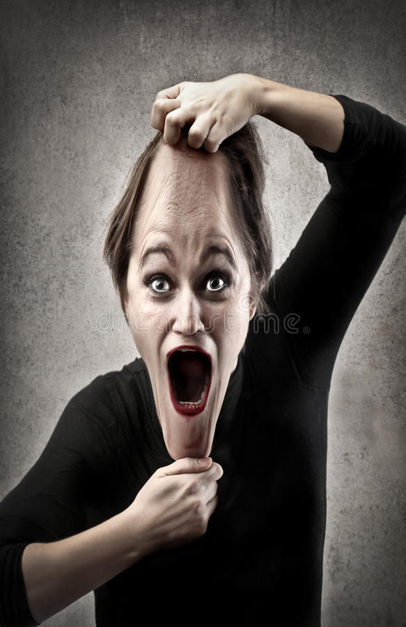 Download Drawn Face stock image. Image of elastic, scream, face - 27777031