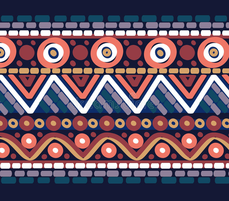 Drawn geometric linear pattern royalty free stock photography