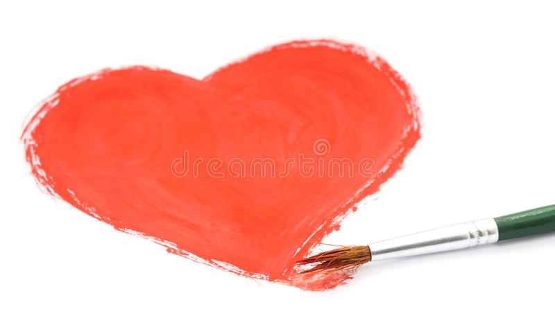 Drawn heart. Drawn heart on a white background stock photos