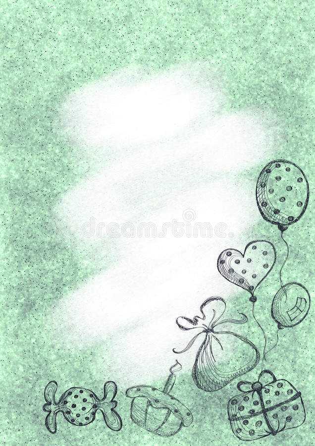Drawn pastel background with gift cake air balloons and candy download drawn pastel background with gift cake air balloons and candy template for spiritdancerdesigns Images