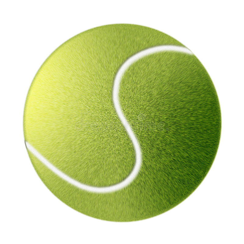 Drawn tennis ball isolated royalty free illustration