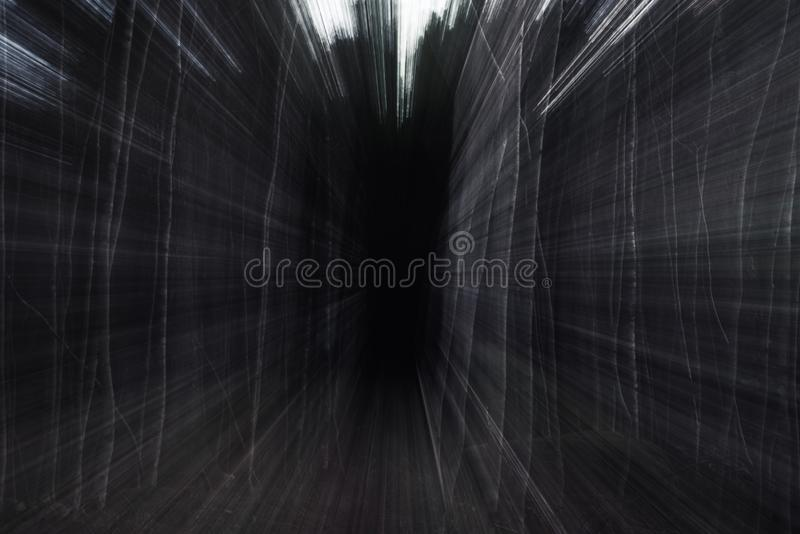 Drawn towards the horrors in the forest. stock images
