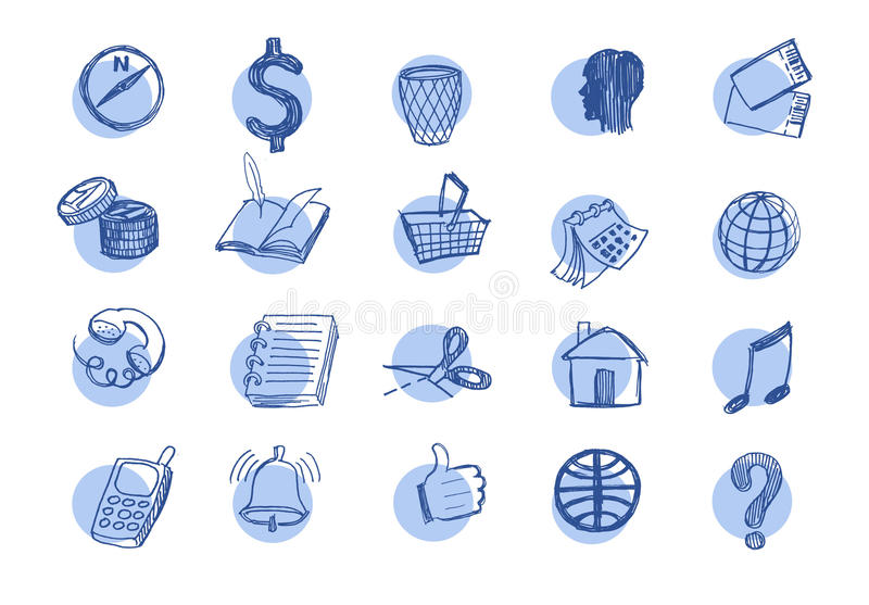 Download Drawn web  icons stock vector. Illustration of computing - 33371646