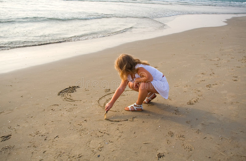 Download Draws on sand stock photo. Image of blonde, blond, sand - 8032578