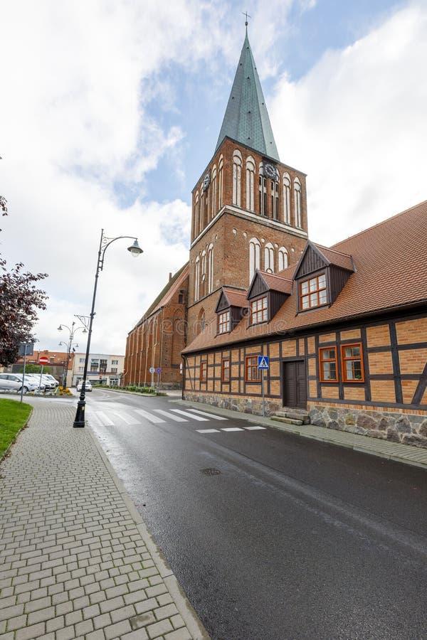 Free Drawsko, Zachodniopomorskie / Poland - October, 09, 2020: Old Catholic Church In The Center Of A Small Town. Brick Christian Royalty Free Stock Photos - 198536728