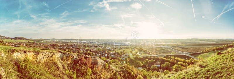 Drazovce wioska i teren przemysłowy, Nitra zdjęcia royalty free