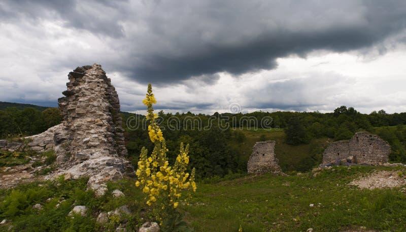 DreÅ ¾ nik, Stari Grad DreÅ ¾ nik, Κροατία, περιοχή λιμνών Plitvice, κάστρο, φρούριο, τοπίο, μεσαιωνικό, Ευρώπη, καταστροφές, παλ στοκ εικόνα