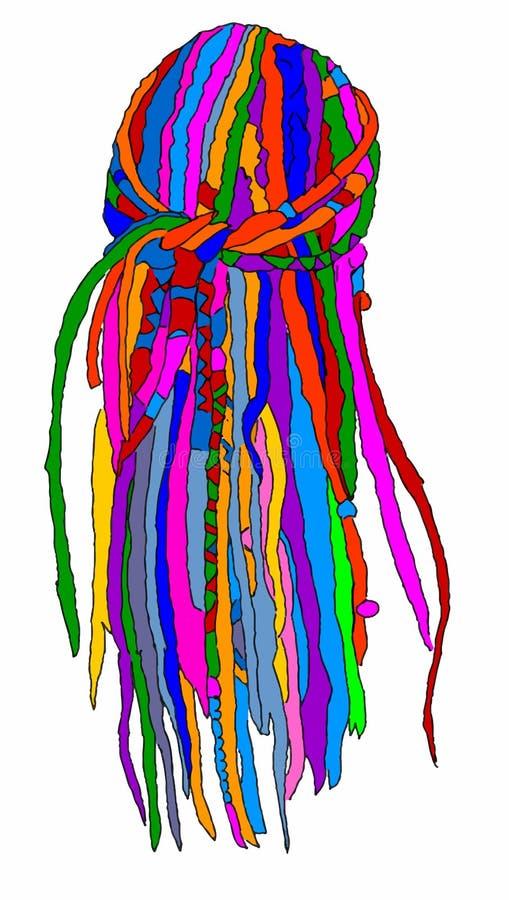 dreadlocks vector illustratie