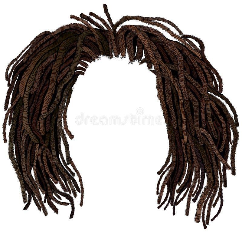 Dreadlocks africanos del pelo hairstyle ilustración del vector