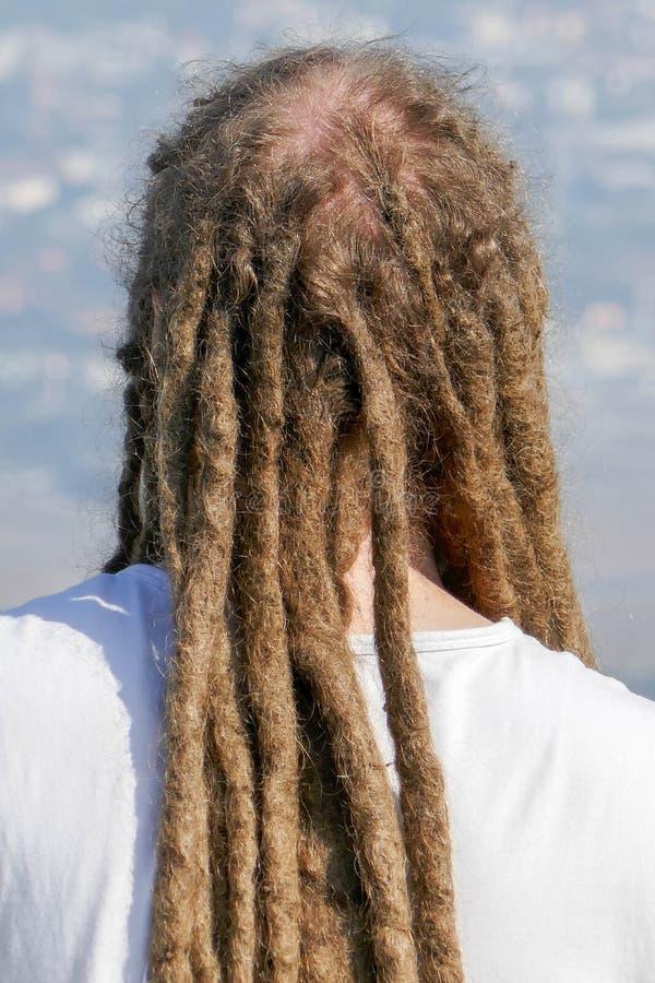 Dreadlocks fryzura mężczyzna Włosiany dreadlocks reggae przełaz obrazy royalty free