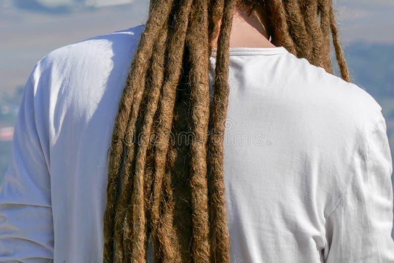 Dreadlocks fryzura mężczyzna Włosiany dreadlocks reggae przełaz zdjęcie stock