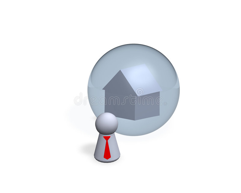 Download Dream stock illustration. Image of bubble, estate, real - 1422542