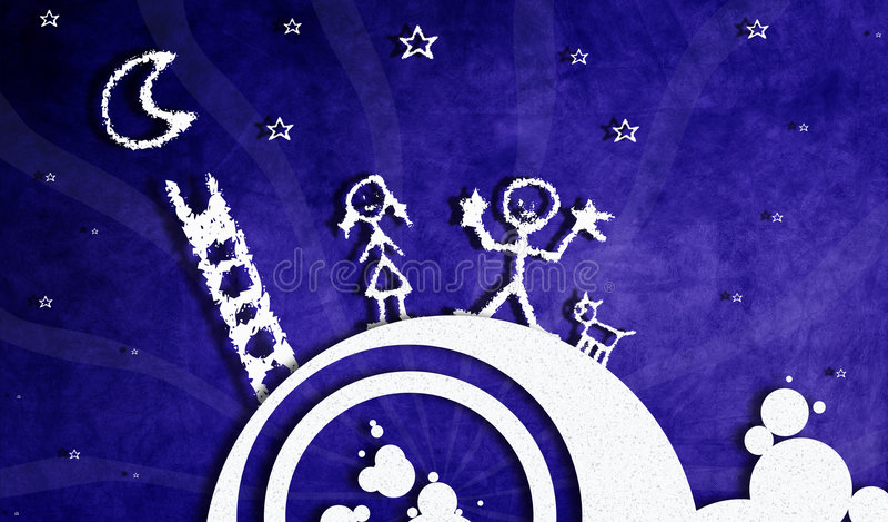Download Dream background stock illustration. Image of moon, peta - 7533473