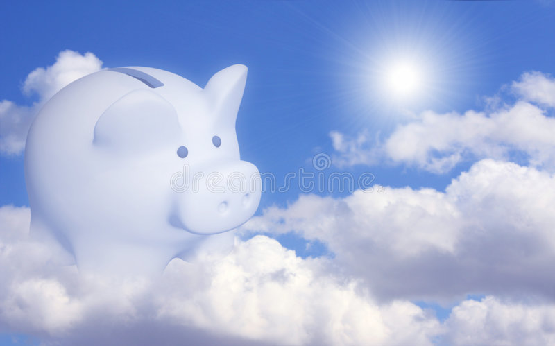 Dream of the bank account. Conceptual image - dream of the bank account royalty free stock photography