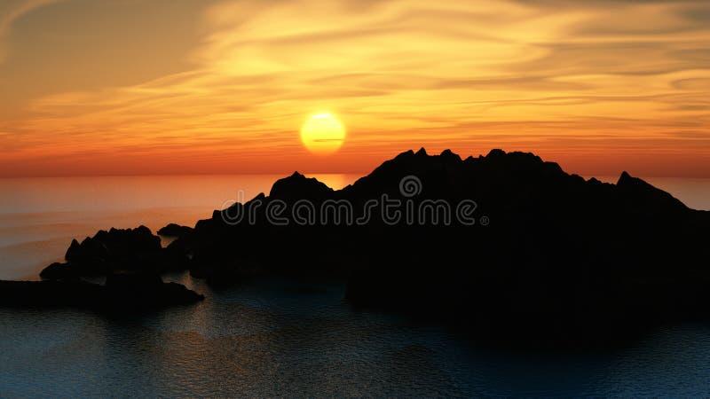 Download Dream bay stock illustration. Image of horizon, clean - 7153588