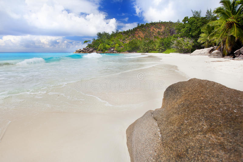 Download Dream Beach - Anse Georgette Stock Image - Image of idyllic, granite: 39502653