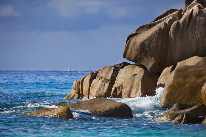 Download Dream Beach - Anse Georgette Stock Image - Image of beautiful, blue: 39502793