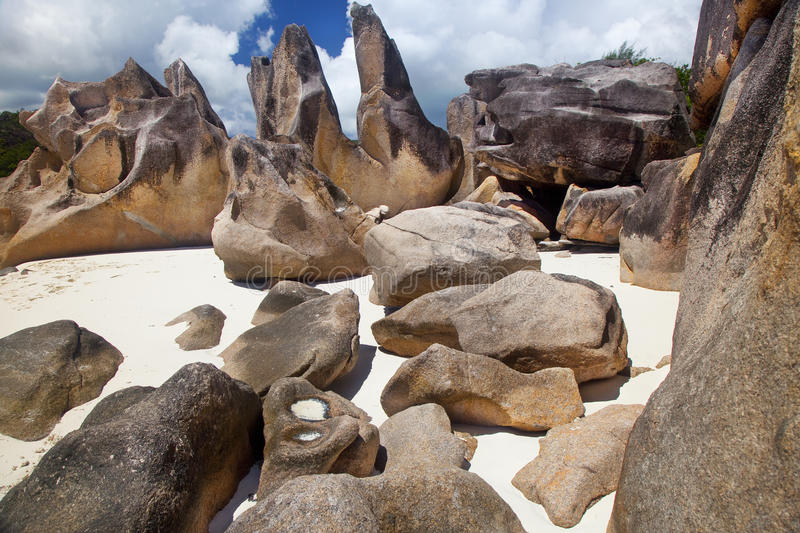 Download Dream Beach -Curieuse Island Stock Image - Image of ocean, rock: 39503333