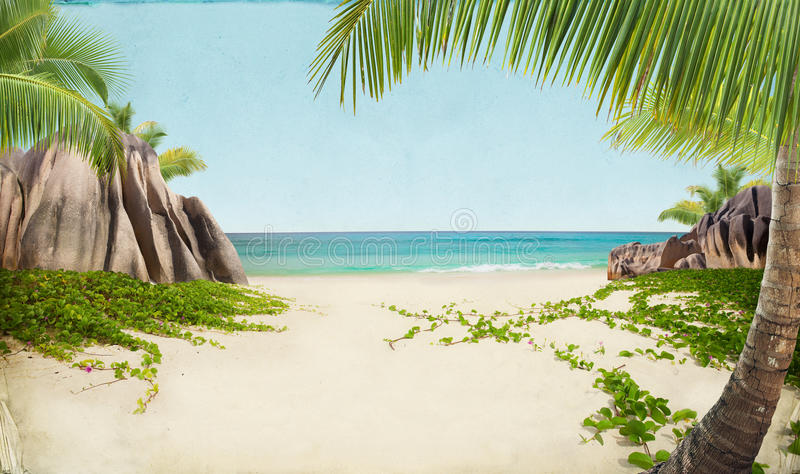 Download Dream Beach Paper Background Stock Photo - Image of paradis, beach: 39500052